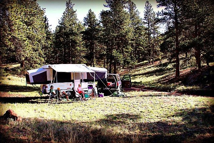 Camping close to Tarryall Creek