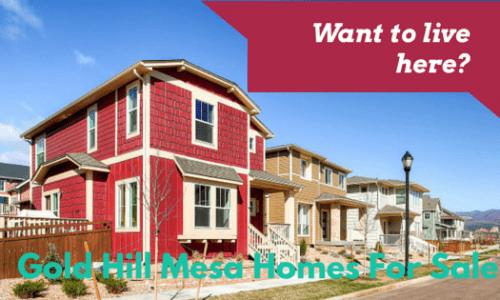 Homes in Gold Hill Mesa , Colorado Springs Westside.