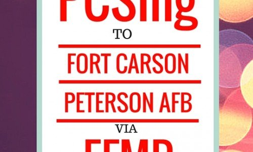 PCSing to Fort Carson or Peterson AFB via EFMP