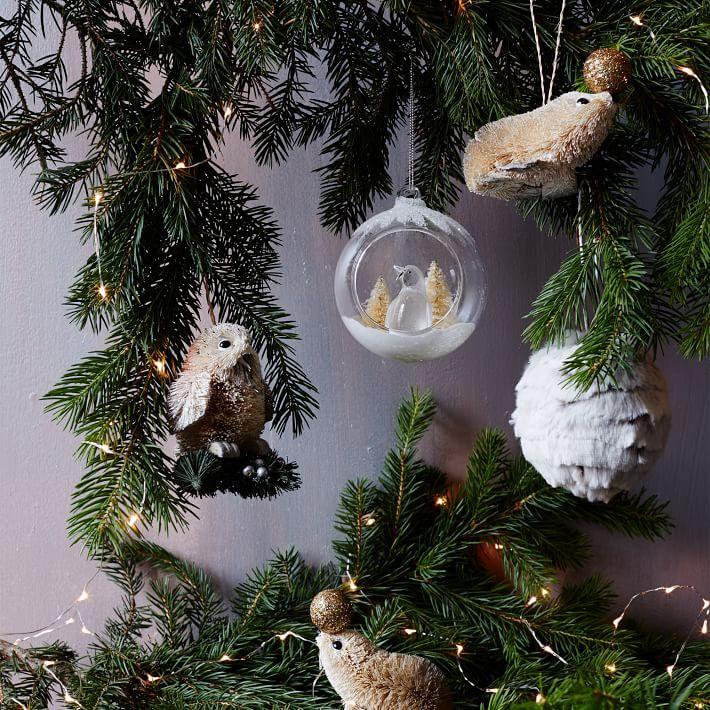 stylized woodland ornaments