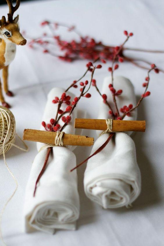 stylized woodland napkins
