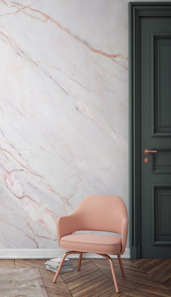 Marble wall - a home design trend in 2017