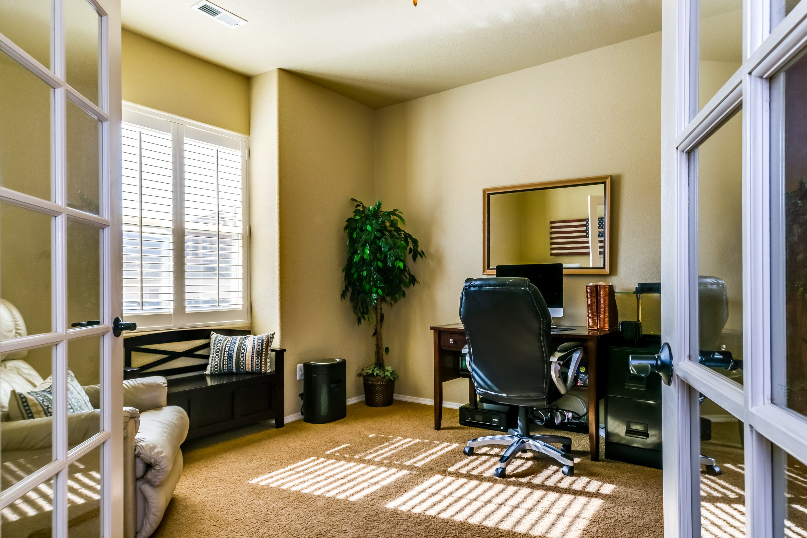 Gold Hill Mesa condo for sale, picture of office with french doors