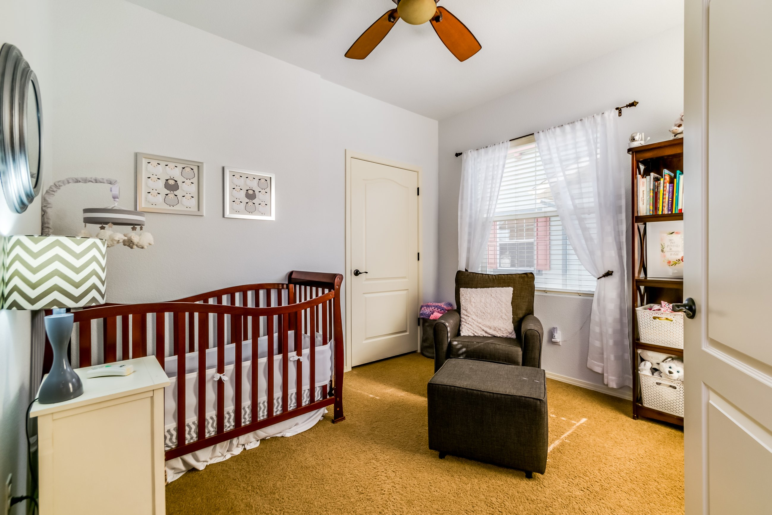Gold Hill Mesa condo for sale, picture of bedroom being used as a nursery