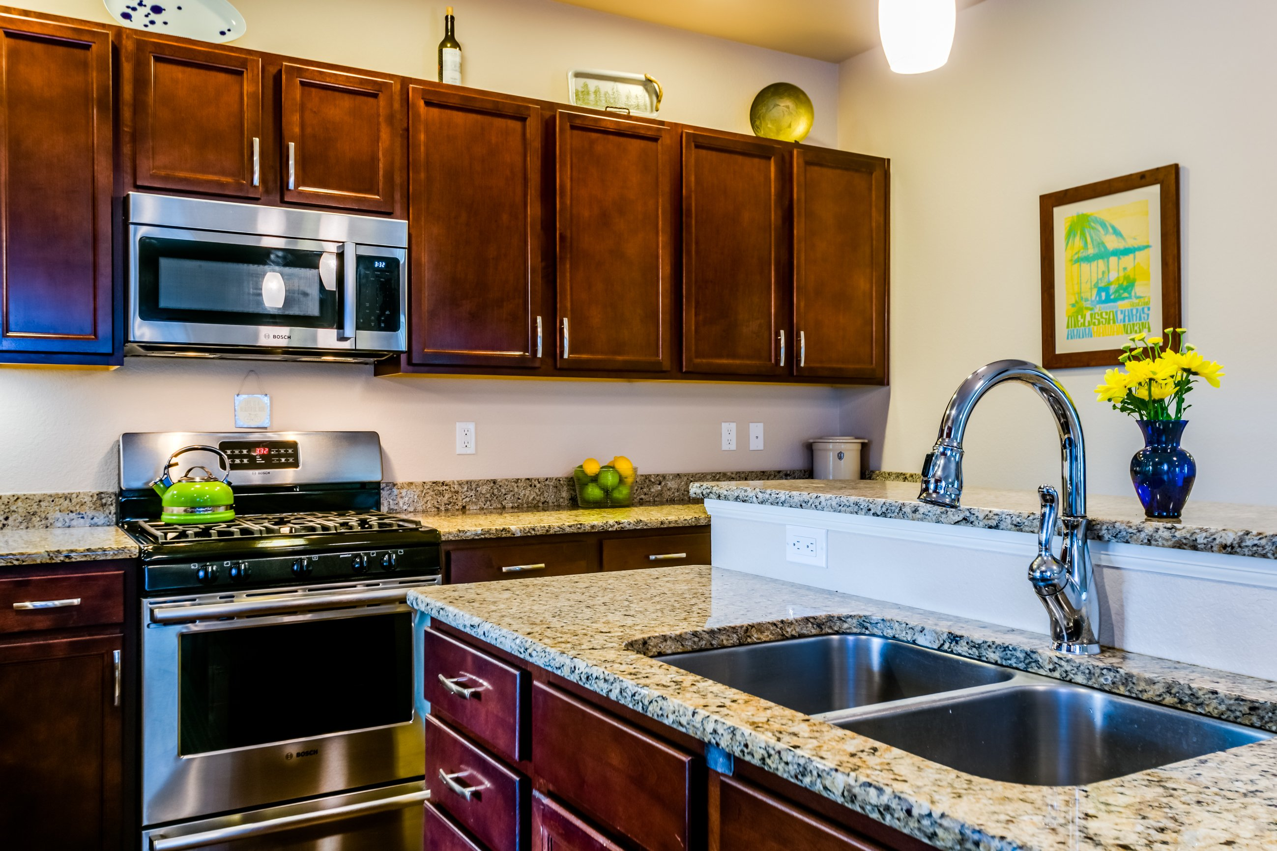 Picture of the dual kitchen sinks in the kitchen at 166 Autumn Bell