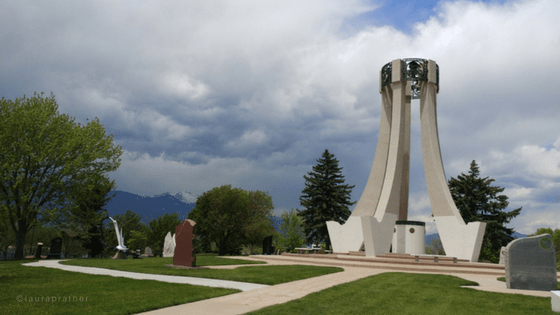 Soldiers Memorial at Memorial park, central Colorado Springs