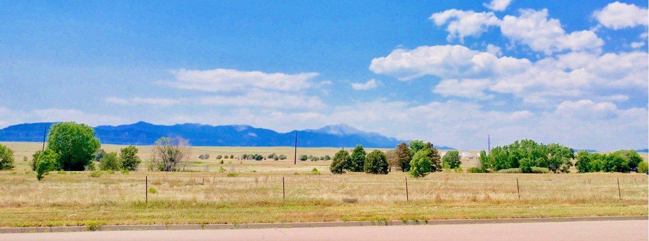 Pikes Peak as seen from Eastern Colorado Springs
