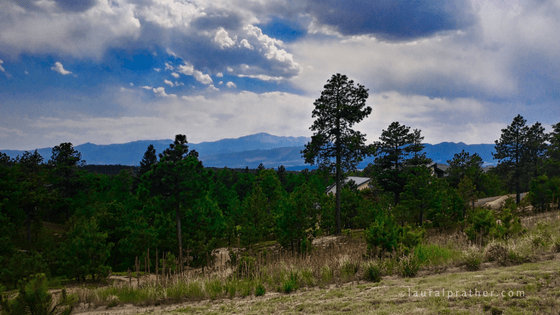 Pikes Peak as viewed from Black Forest