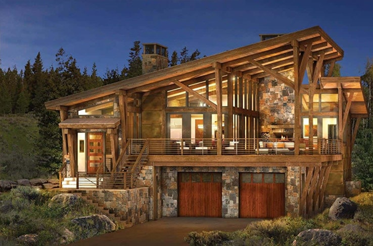 modern mountain home