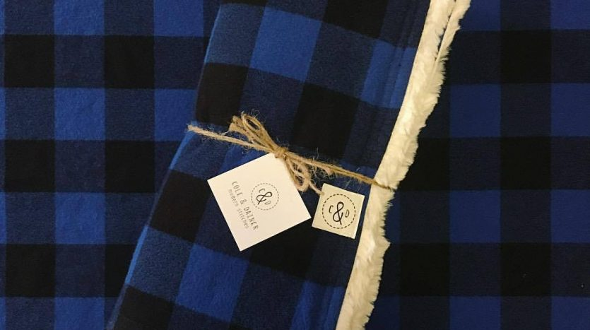 Cole and Dainer blue flannel throw