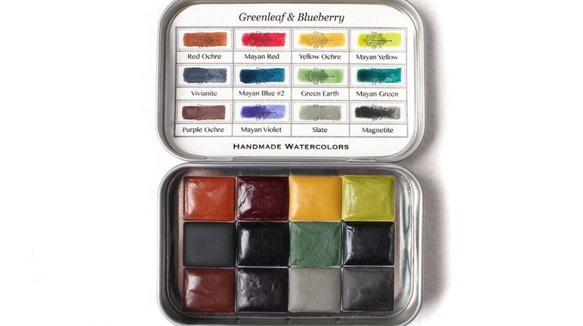 Greenleaf & Blueberry handmade watercolor paints