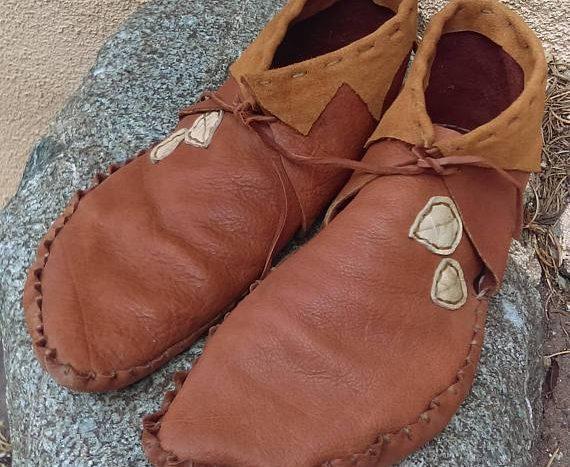 Yak leather mocassins