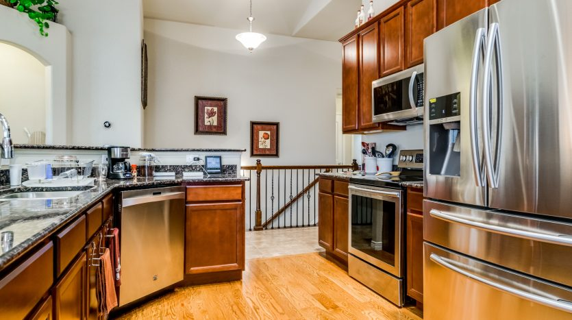 A pleasant looking kitchen