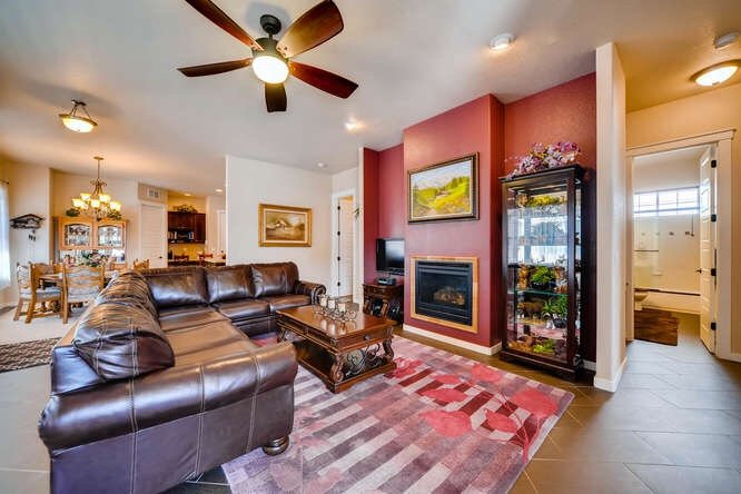 The luxurious looking living room of 1290 Gold Hill Mesa Drive