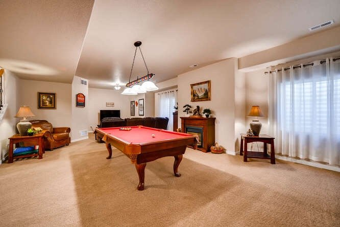 Picture of the pool table and game room in 1290 Gold Hill Mesa Drive