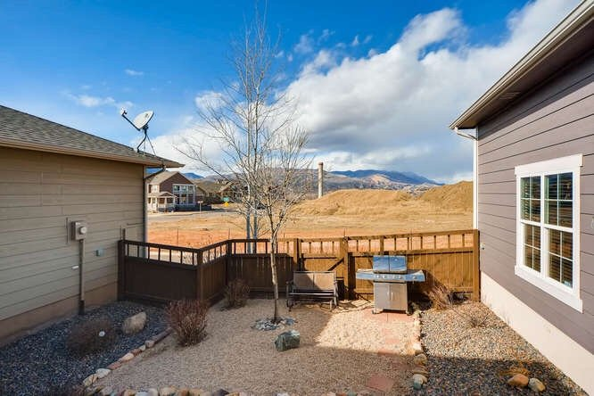 Picture of the view from the backyard of 1290 Gold Hill Mesa Drive