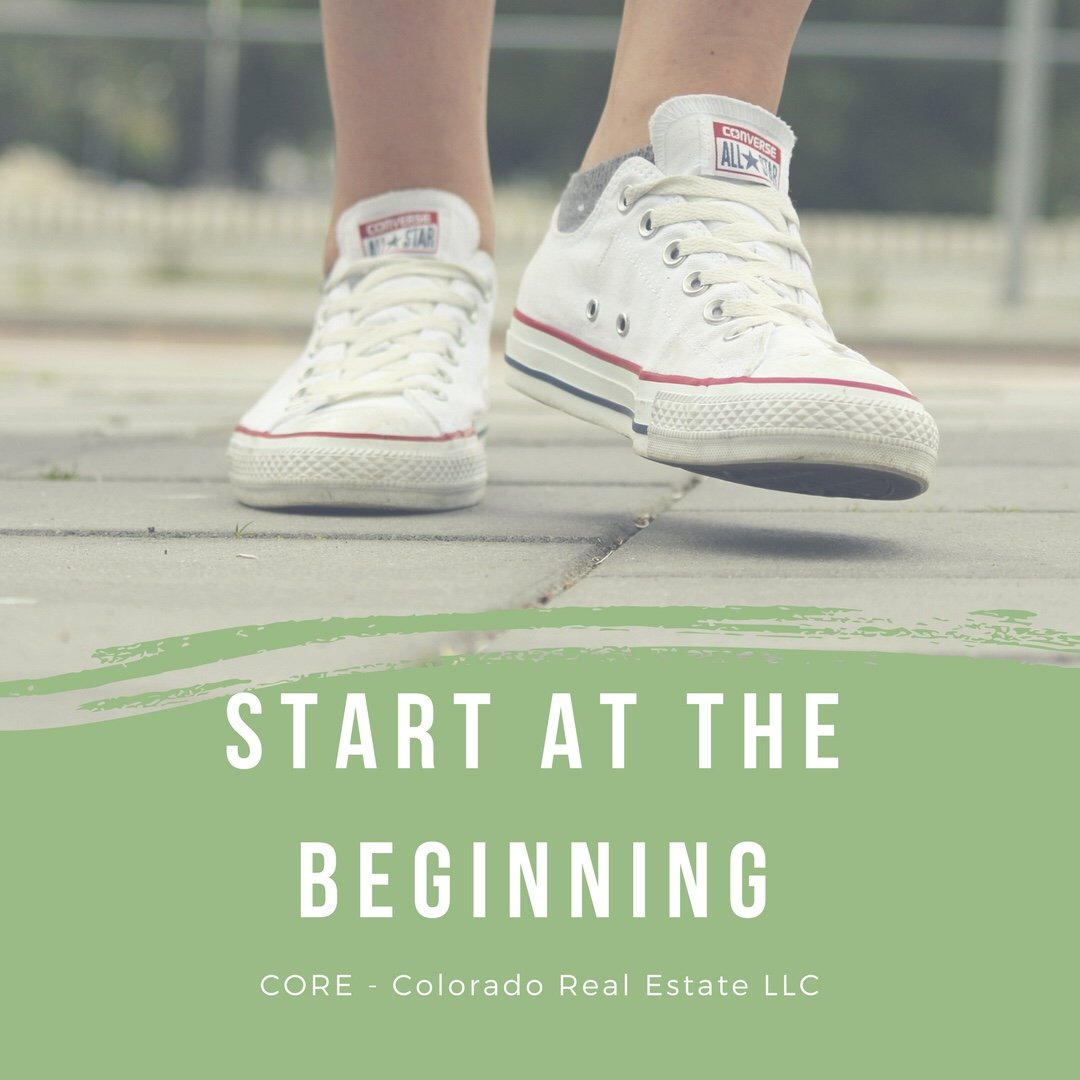 Start at the beginning - white converse shoes