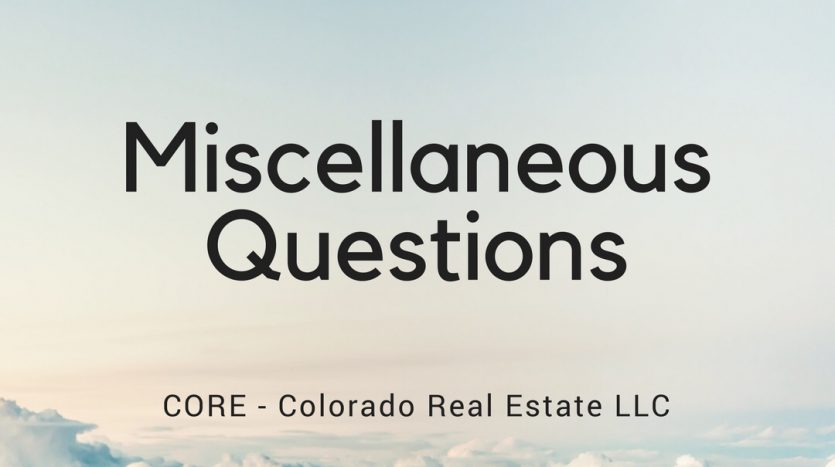 Miscellaneous Questions
