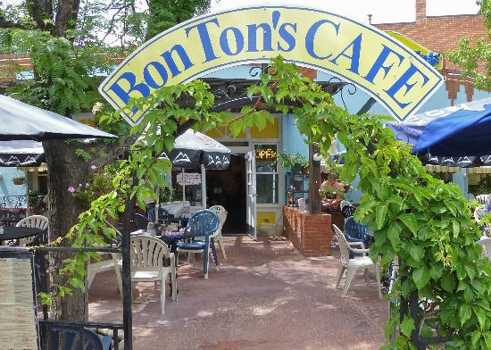 Bon Ton's Cafe Sign/Entrace to patio dining area
