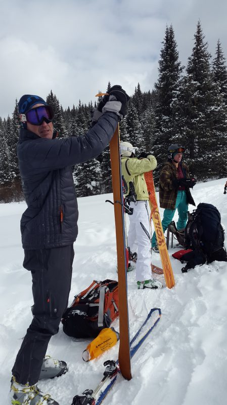 Backcountry skiing in Vail
