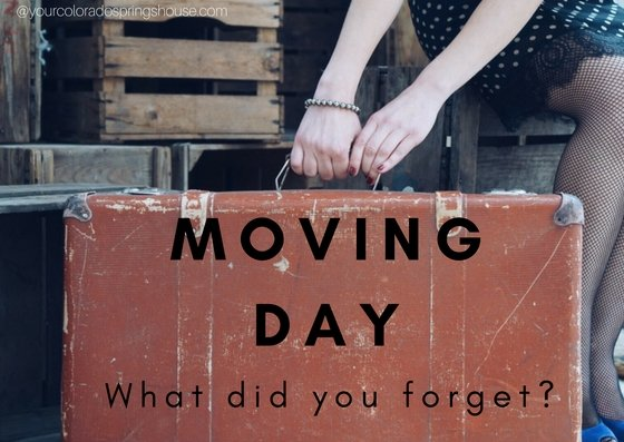 What did you forget to pack? Moving day