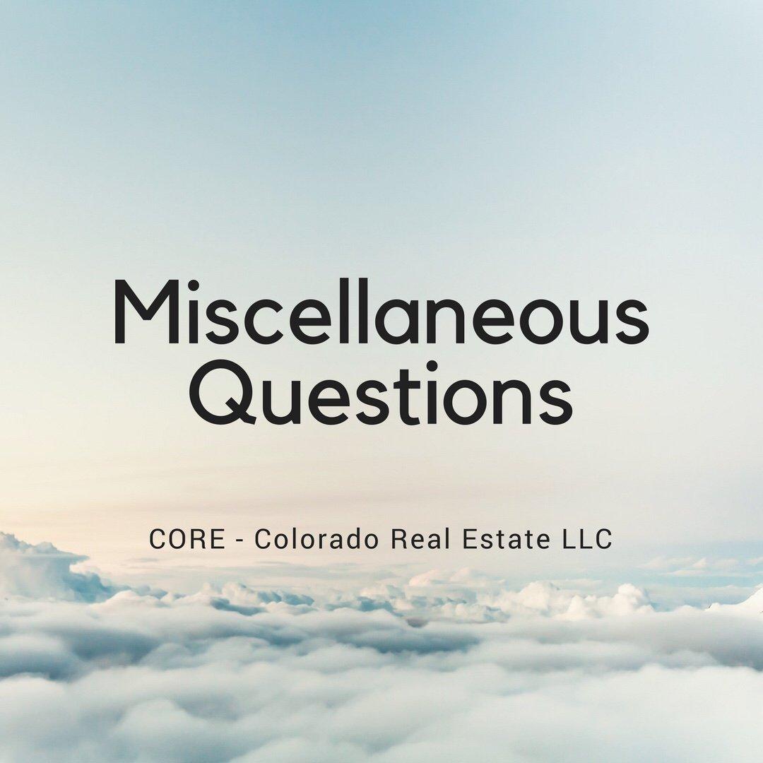 Miscellaneous Questions - blue clouds sky